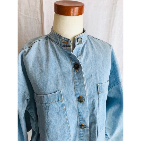 f90f4d71 Tops   Vintage 80s Fun Usa Western Denim Shirt Oversize M   Poshmark